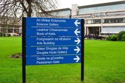 Trinity College Post Panel Sign