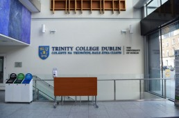 Education signage - Trinity College Dublin internal lettering and logo signage