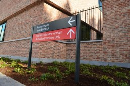 Government signage - Wexford Garda Station external post panel directory sign