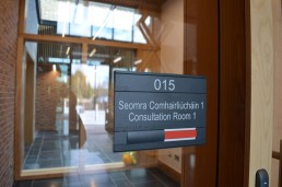 Government signage - Wexford Garda Station internal consultation free and engaged room door sign