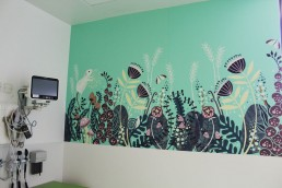 Temple Street Childrens Hospital mural in room