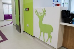 Temple Street Childrens Hospital reindeer 3mm acrylic graphic