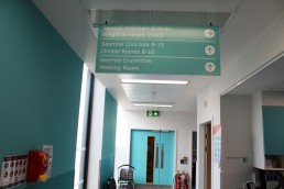 Temple Street Childrens Hospital suspended sign