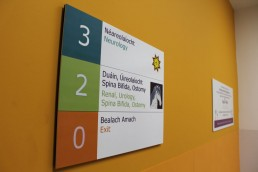 Temple Street Childrens Hospital wall directory