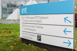 Corporate Signs - RTE Corporate external monolith branded