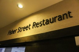 Actons Hotel Fisher Street Hotel Restaurant lettering signage