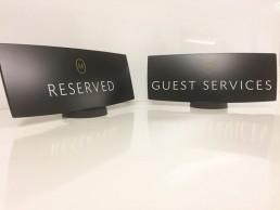 Hotel Signage - Marker Hotel concierge desk signs