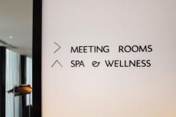 Hotel Signage - Marker Hotel internal lettering