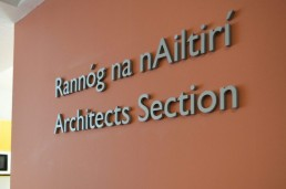 Mayo County Council internal lettering