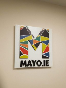 Mayo County Council branding logo wall sign