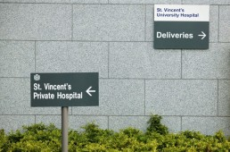 Health Signage - St. Vincents Private Hospital external wayfinding signage