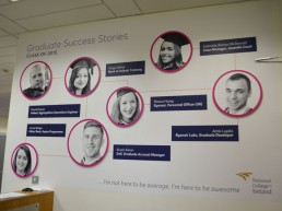 National College of Ireland student success wall