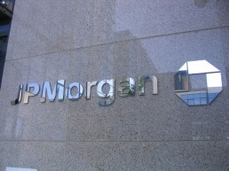 JP Morgan external lettering