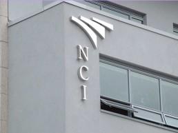 NCI external lettering