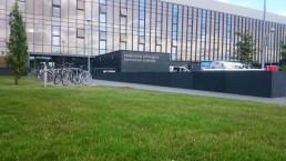 Campus Wayfinding - NUI Galway external stainless steel lettering