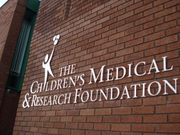 The Childrens Medical & Research Foundation external lettering