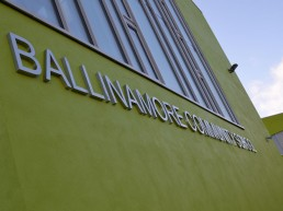 Ballinamore Community School external lettering