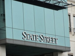 State Street external lettering