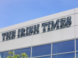The Irish Times external lettering