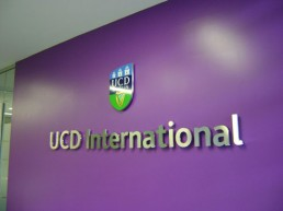 UCD International internal stainless steel lettering