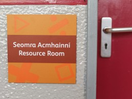 School Signage -Scoil Assaim door sign