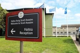 School Signage -Scoil Assaim external totem