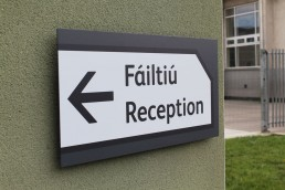 School Signage -Scoil Assaim reception wall sign