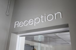 School Signage -Scoil Assaim internal reception lettering