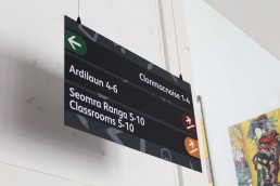 School Signage -Scoil Assaim suspended sign