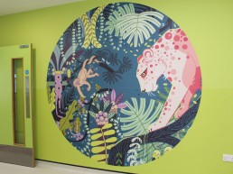 Temple Street Childrens Hospital wall graphic