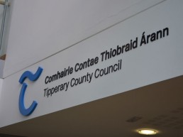 Tipperary County Council internal lettering