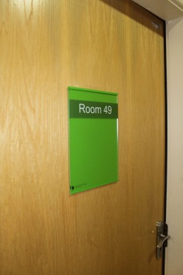 Moycullen Nursing Home Paper Flexible Room Sign
