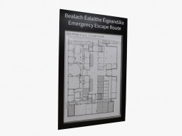Emergency escape route paper flexible sign
