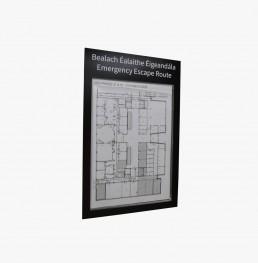 Emergency escape route paper flexible sign