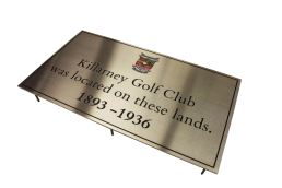 Killarney Golf Club Plaque