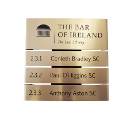 The Bar of Ireland door sign
