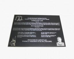 Zinc plaque